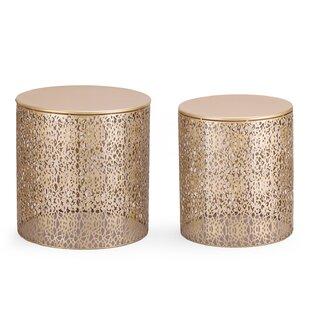 Read Reviews Heenan 2 Piece Coffee Side Table ByWrought Studio