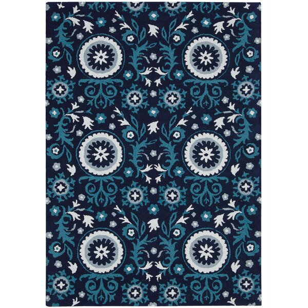 Aberdeenshire Blue Area Rug by Charlton Home