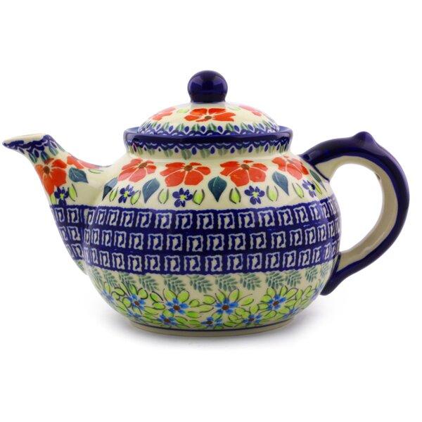 Polish Pottery Stoneware Teapot by Polmedia