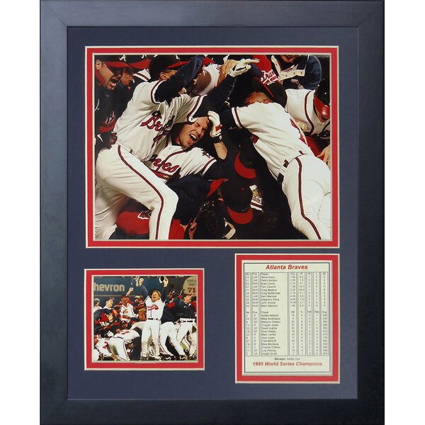 1995 Atlanta Braves Champions Framed Photographic Print by Legends Never Die