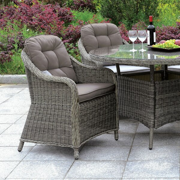 Ferryhill Patio Dining Chair with Cushion (Set of 2) by August Grove