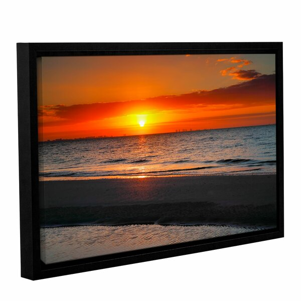 Sunrise Over Sanibel by Steve Ainsworth Framed Photographic Print on Wrapped Canvas by ArtWall