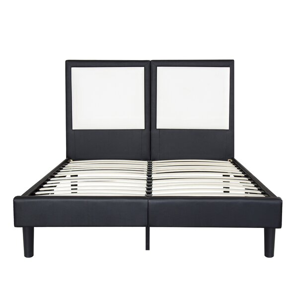 Casteel Faux Leather Platform Bed Frame by Orren Ellis