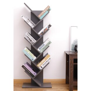 Ato 9-Shelf Tree Magazine CD Geometric Bookcase