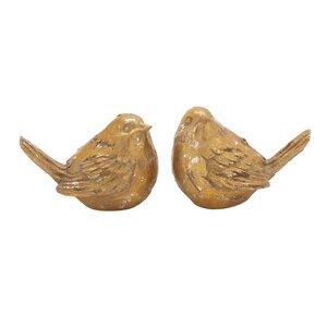 2 Piece Bird Figurine Set