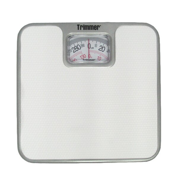 Basic Metal Mechanical Bathroom Scale by Trimmer