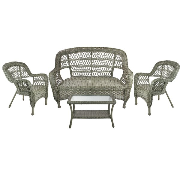 Alpert Outdoor Patio Furniture 4 Piece Sofa Seating Group by Darby Home Co