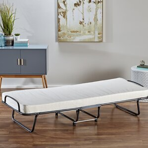 Roll-Away Folding Bed with Reversible with Mattress by Alwyn Home