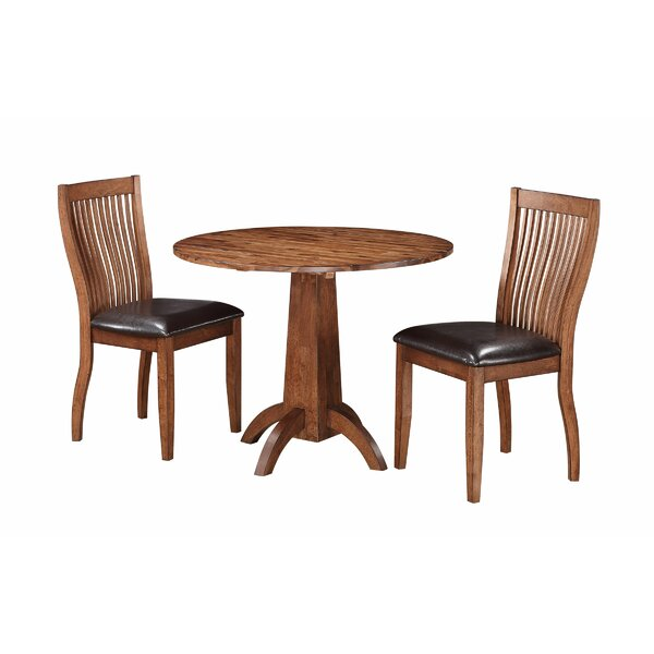 Blanco Point 3 Piece Solid Wood Dining Set by Loon Peak Loon Peak