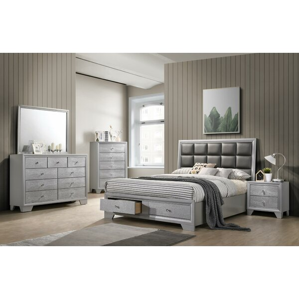 Sciortino Upholstered Storage Platform Bed by House of Hampton