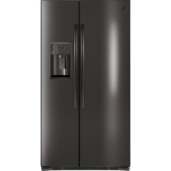 25.3 cu. ft. Energy Star Counter Depth Side By Side Refrigerator by GE Appliances