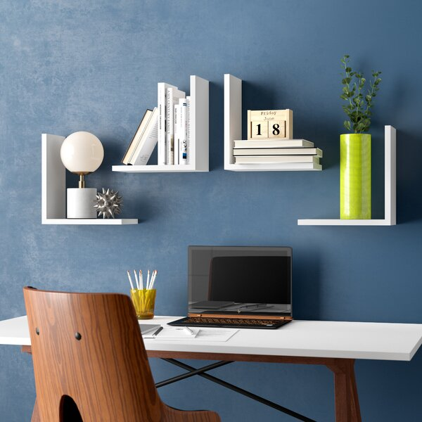 Chet Modern Wall Shelf (Set of 4) by Brayden Studio