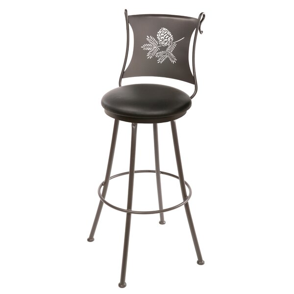 Trawick 30 Swivel Bar Stool by Millwood Pines