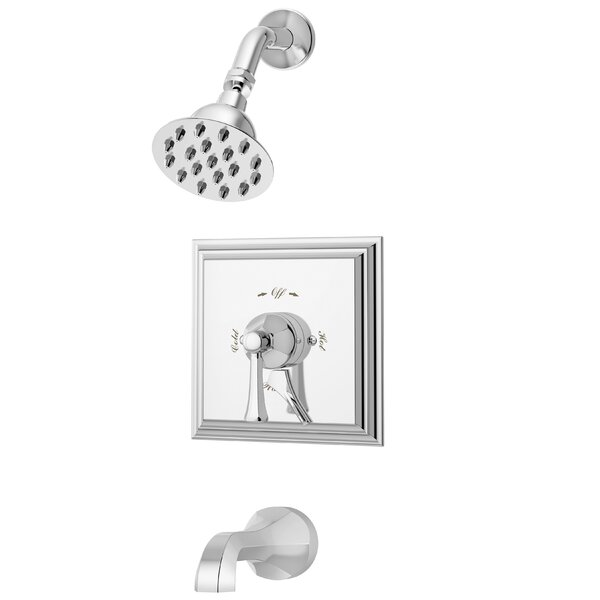 Canterbury Thermostatic Tub and Shower Faucet Trim with Metal Lever Handle by Symmons Symmons