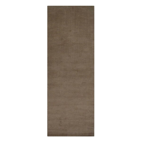 Luciano Hand-Knotted Wool Brown Area Rug by Ebern Designs