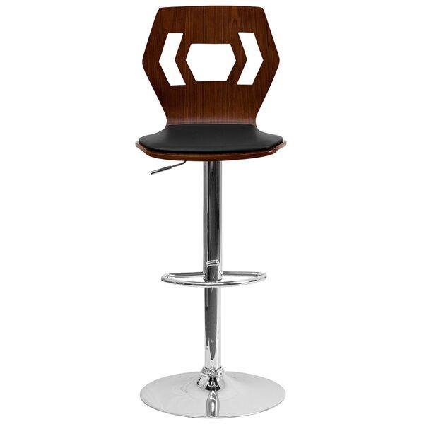 Ziggy Adjustable Height Swivel Bar Stool (Set of 2) by Wrought Studio