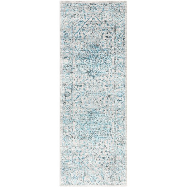 Parramore Oriental Pale Blue Area Rug by Bungalow Rose