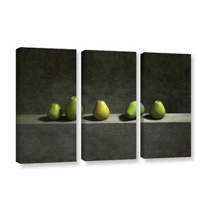 Five Pears by Cynthia Decker 3 Piece Photographic Print on Wrapped Canvas Set by ArtWall