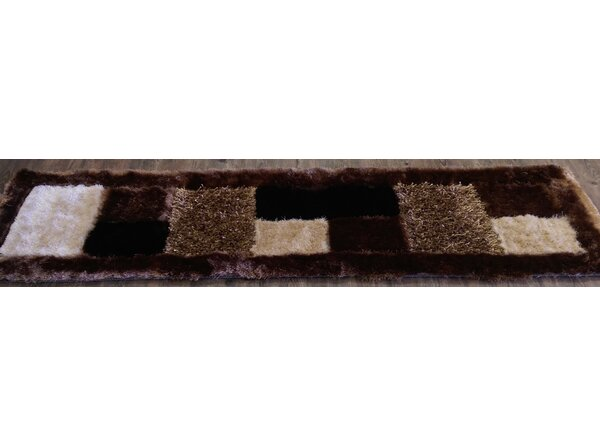 Hand-Tufted Brown/Beige Area Rug by Rug Factory Plus