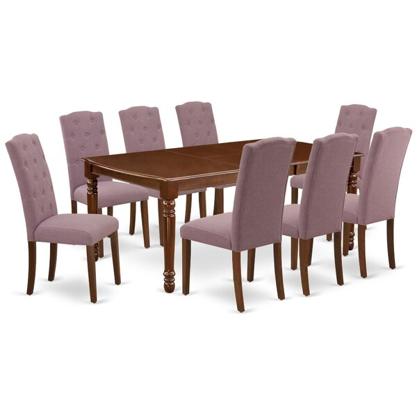 Cuaron 9 Piece Extendable Solid Wood Dining Set by Winston Porter Winston Porter