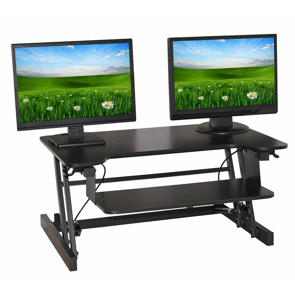 Easy Pull Home Office Standing Desk Converter by Symple Stuff