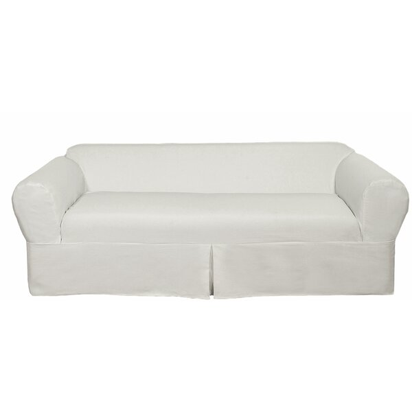 Twill Box Cushion Sofa Slipcover (Set of 2) by Darby Home Co
