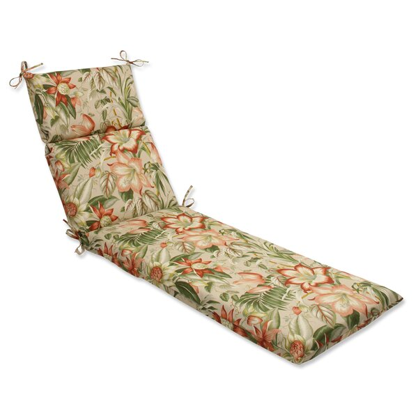 Botanical Glow Indoor/Outdoor Chaise Lounge Cushion by Pillow Perfect