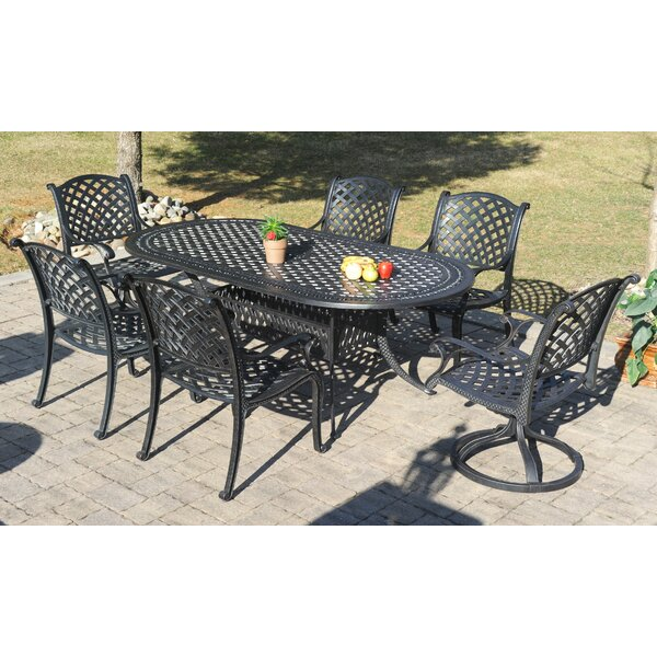 Puente 7 Piece Dining Set with Sunbrella Cushions by Canora Grey