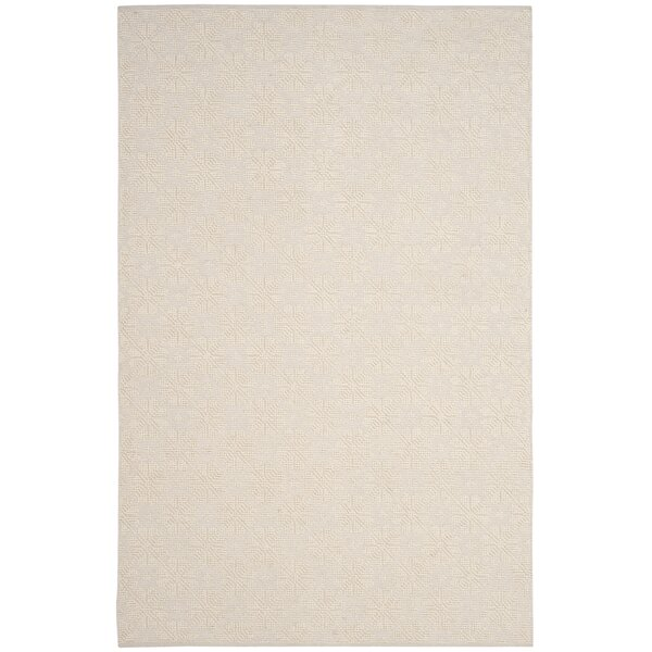 Xamiera Hand Tufted Wool And Cotton Ivory Geometric Area Rug by Gracie Oaks