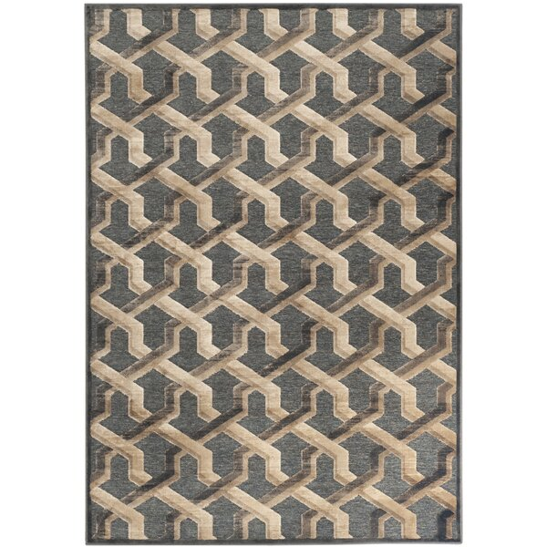 Gabbro Soft Anthracite Area Rug by Mercer41