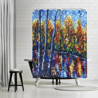 East Urban Home Olena Art Morning Breaks Single Shower Curtain Wayfair