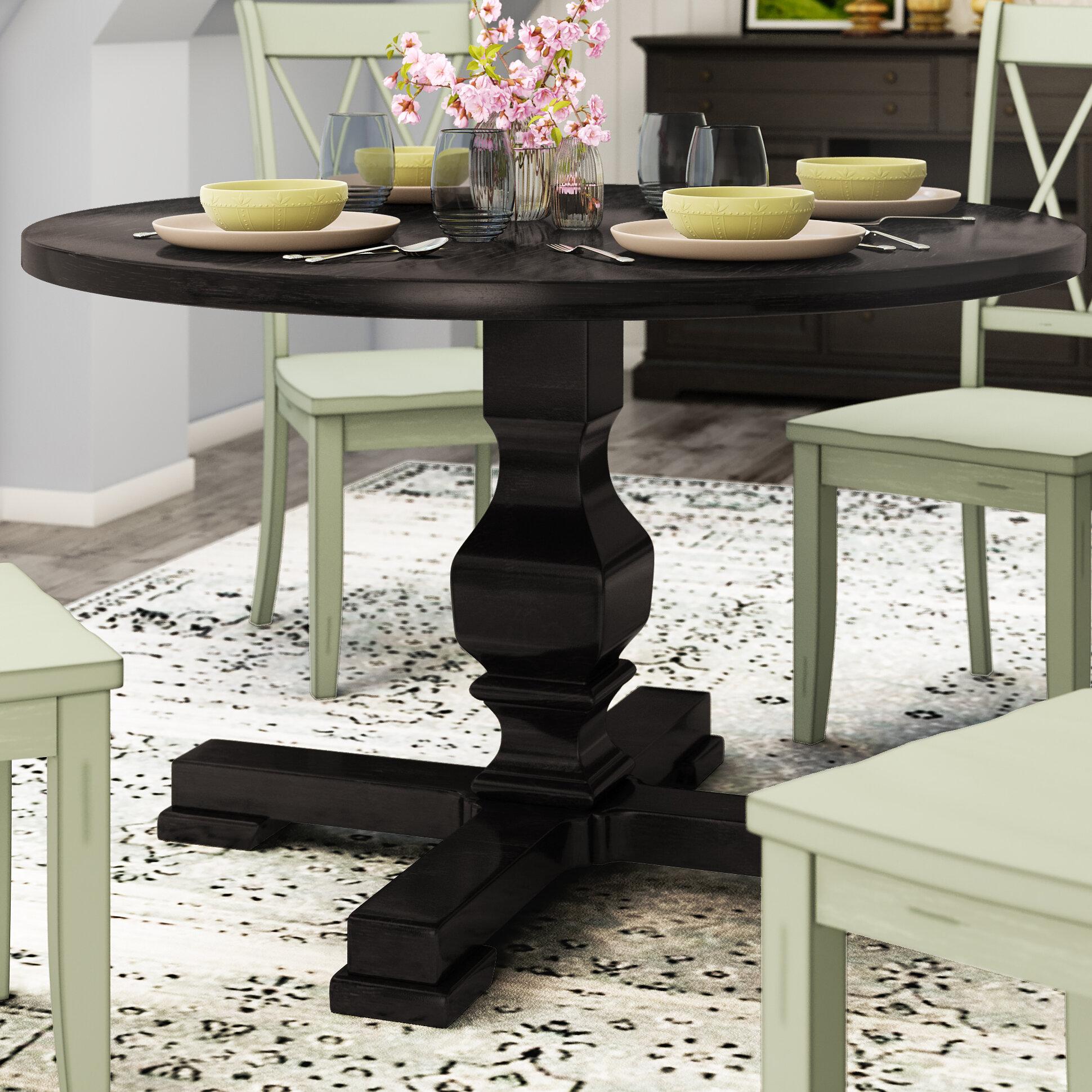 Gracie oaks bloomingdale round pedestal dining table reviews wayfair
