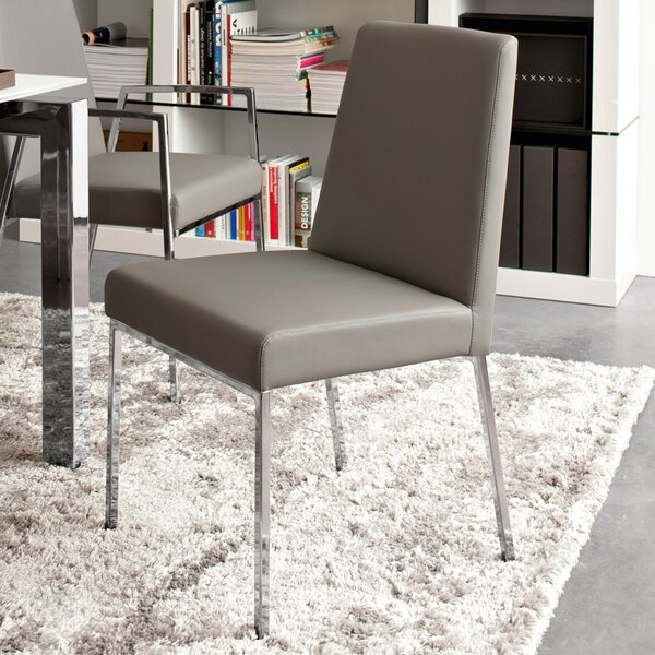 Amsterdam Upholstered Metal Side Chair by Connubia Connubia