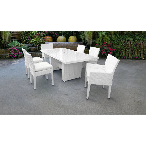 Burgoon 7 Piece Dining Set with Cushions by Orren Ellis