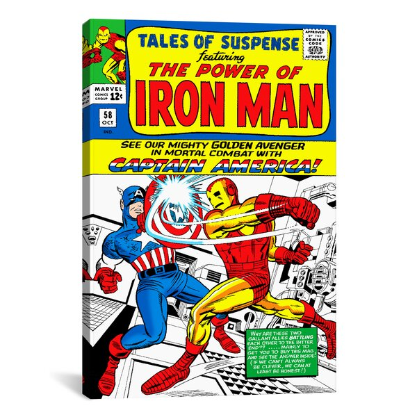 Marvel Comics Book Iron Man Issue Cover 58 Graphic Art on Wrapped Canvas by iCanvas