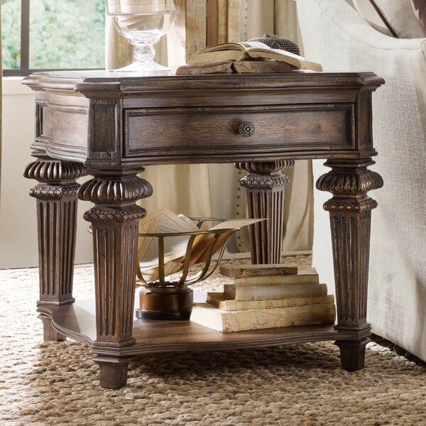 Rhapsody End Table with Storage by Hooker Furniture