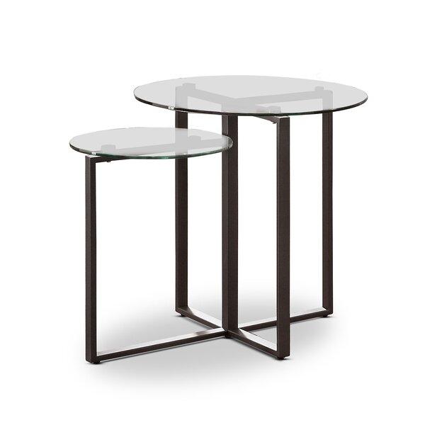 Kopstal Glass Top Frame End Table By Brayden Studio