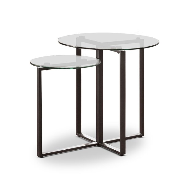 Kopstal Glass Top Frame End Table By Brayden Studio