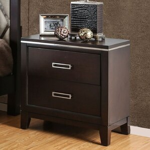 Lonny Contemporary 2 Drawer Nightstand by Latitude Run