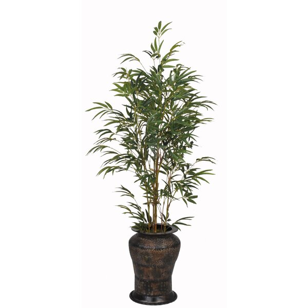 Artificial Yellow Bamboo Tree in Decorative Vase by House of Silk Flowers Inc.