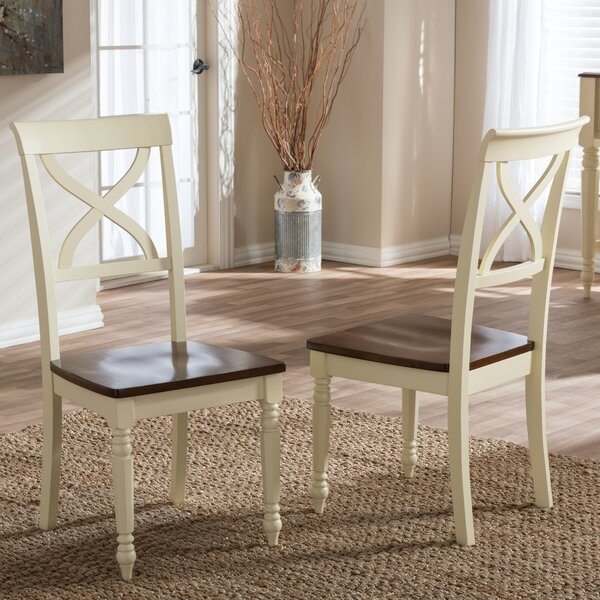 Delmi Solid Wood Dining Chair (Set of 2) by Highland Dunes