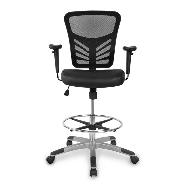 Aaden Ergonomic Drafting Chair by Symple Stuff