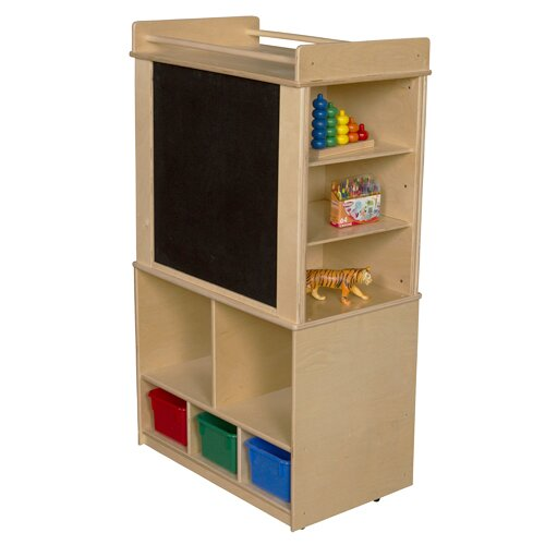 Clarendon Mobile Magnetic Teaching Cart with Bins by Symple Stuff