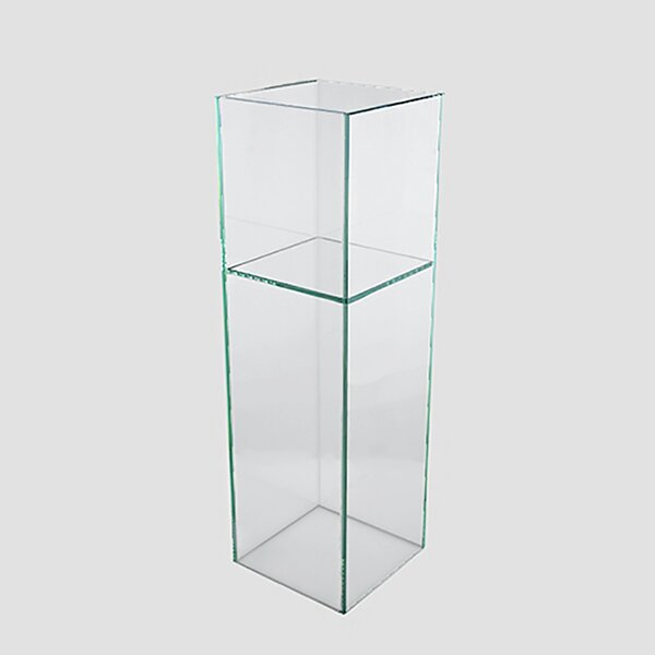 Standing Clear-Cut Glass Rectangular Pot Planter by Vasesource