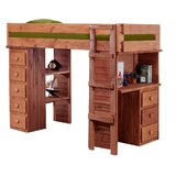 Chronister Twin Loft Bed with Drawers by Harriet Bee