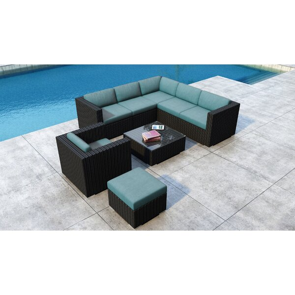 Glendale 8 Piece Sectional Set with Sunbrella Cushion by Everly Quinn