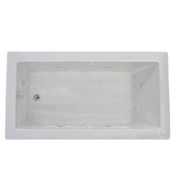 Guadalupe 60 x 30 Rectangular Air & Whirlpool Jetted Bathtub with Drain by Spa Escapes