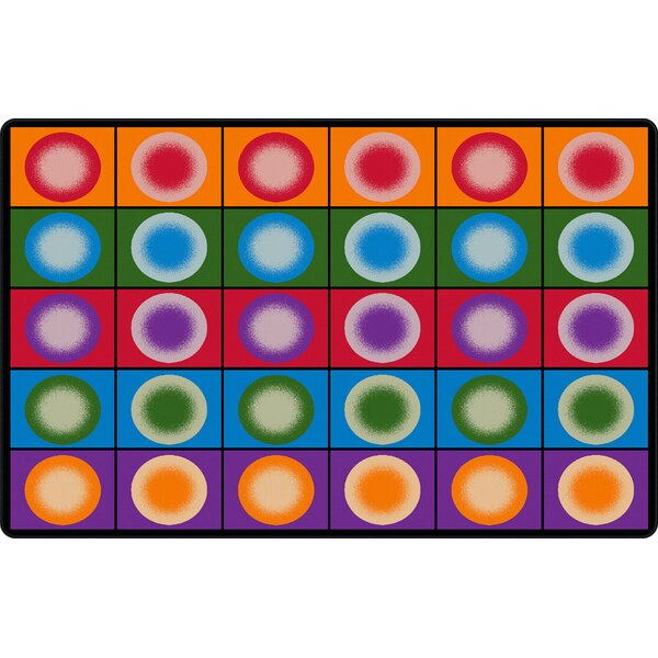 Dot Spots Red/Purple Area Rug by Flagship Carpets