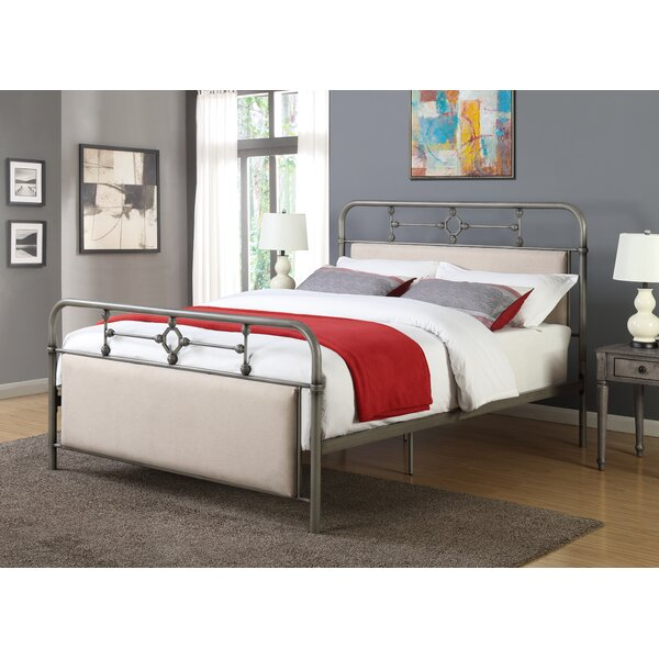 Daniels Metal Queen Upholstered Standard Bed by Charlton Home