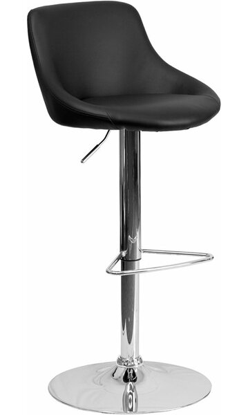 Crotty Low Back Adjustable Height Swivel Bar Stool [George Oliver]